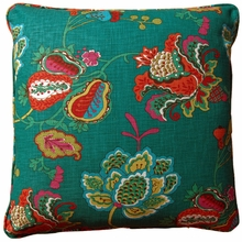 Belle Teal Throw Pillow