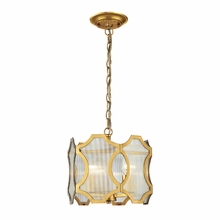 Benicia Pendant In Antique Gold Leaf