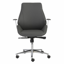 Bergen Low Back Office Chair in Gray and Aluminum