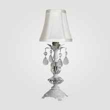 Berlin Petite Matte White Clear Crystal Table Lamp