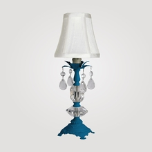 Berlin Petite Neon Blue Clear Crystal Table Lamp