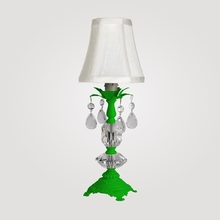 Berlin Petite Neon Green Clear Crystal Table Lamp