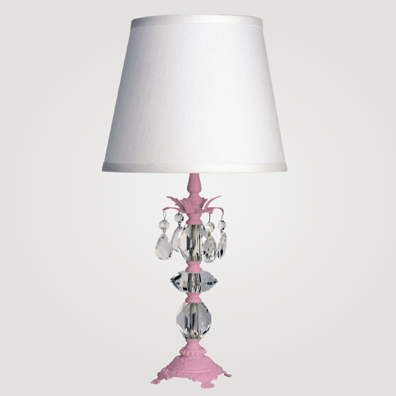 District17 berlin small gloss pink clear crystal table lamp lamps