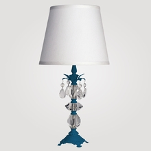 Berlin Small Neon Blue Clear Crystal Table Lamp