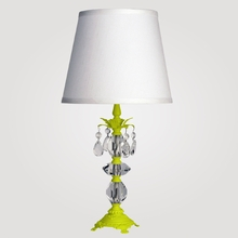 Berlin Small Neon Yellow Clear Crystal Table Lamp