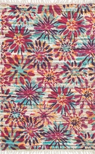 Berry Floral Cotton Rug