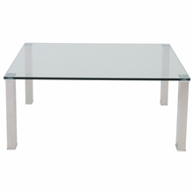 Beth Stainless Steel Table in Clear and Stainless Steel
