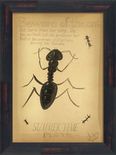 Beware of the Ant Framed Wall Art