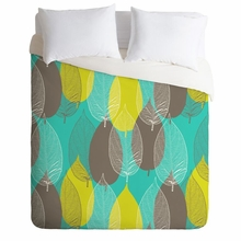 Big Leaves Blue Lightweight Duvet Cover
