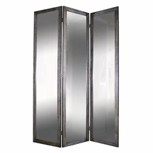 Black 3 Panel Mirror Screen
