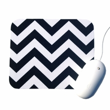 Black and White Chevron Mouse Pad