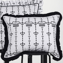 Black and White Crown Standard Sham