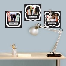 Black and White Wall Sticker Pockets