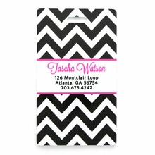 Black Chevron Personalized Luggage Tag Set