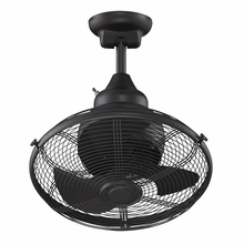 Black Extraordinaire Cage Ceiling Fan