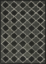 Black Grey Brighton Rug