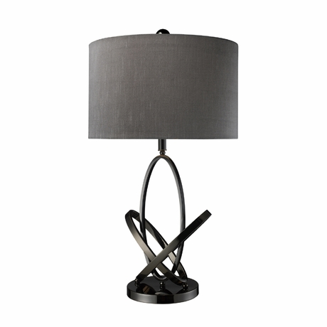 District17 Black Kinetic Table Lamp With Grey Shade Lamps