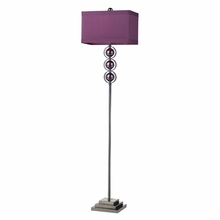 Black Nickel and Purple Floor Lamp With Purple Shade
