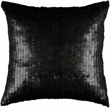 Black Sequin Throw Pillow