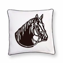 Black Stallion Reversible Throw Pillow