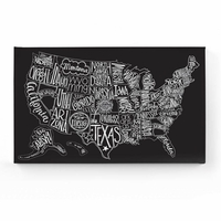 District Black Tie US Map Canvas Wall Art Canvas Wall Art - Us map wall art
