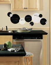Black & White Chalkboard Dots Peel & Stick Appliques