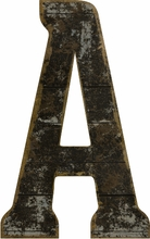 Black Wood Cutout Letters