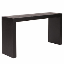Black Wood Grain Console Table