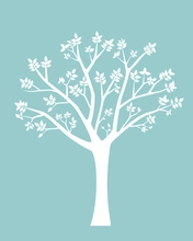 Blooming Tree Wall Decal I