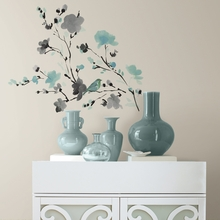 Blossom Watercolor Bird Branch Wall Decals