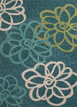 Blossomed Rug in Blue