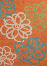 Blossomed Rug in Orange