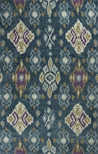 Blue Allover Ikat Rug