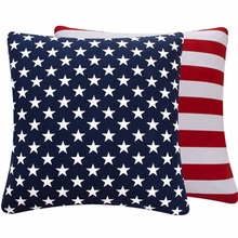 Blue and Red USA Large Throw Pillow