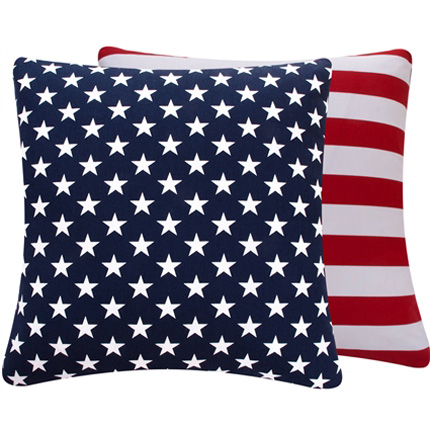 District17 blue and red usa large throw pillow pillows for Red and blue pillows