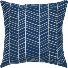 Blue Arrow Throw Pillow