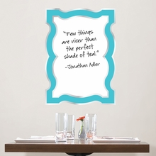 Blue Enamel Peel & Stick Dry-Erase Board