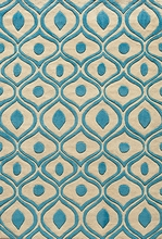 Blue Geometric Bliss Rug