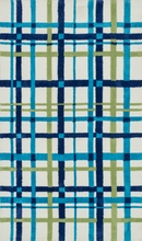 Blue Green Plaid Piper Rug