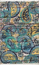 Blue Paisley Cotton Rug