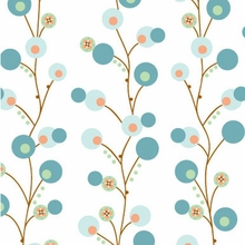 Blue Twiggy Caden Lane Fabric by the Yard