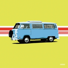 Blue Van Canvas Wall Art