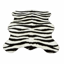 Bold Striped Zebra Pelt Rug