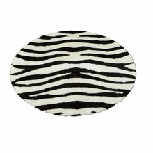 Bold Striped Zebra Round Rug