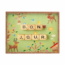 Bonjour Rectangle Tray