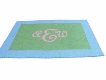 Border Monogram Rectangle Rug