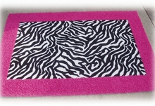 Border Rectangle Rug in Animal Print