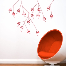 Bouquet in Dahlia Red Wall Decal