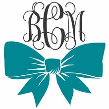 Bow Interlock Monogram Car Decal