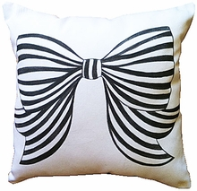 Bow Petite Throw Pillow